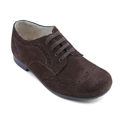 Start-rite Charles Dark Brown Suede Formal Lace-up Classic Shoes F fitting