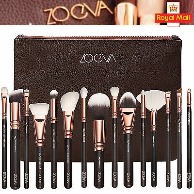 15Pcs Zoeva Makeup Brush Set Cosmetics Eye Foundation Kit Rose Gold