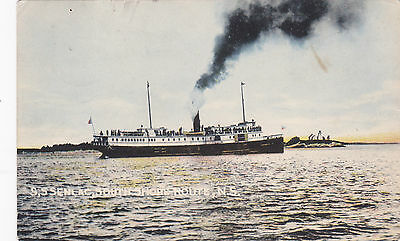 "S.S. ""SENLAC"" , South Shore Route , Nova Scotia , Canada , PU-1908"