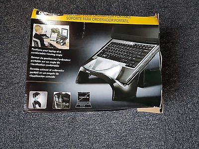 Fellowes Smart Suites Laptop Riser With 4-Port USB 2.0 Black /Clear 8020201
