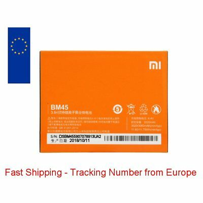 New for Xiaomi Redmi Note 2 Battery BM45 3020mAh - Fast Shipping from Europe