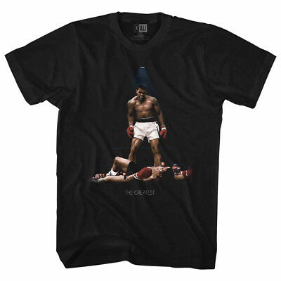 Muhammad Ali Boxing T-Shirt All Over Again 100% Black Cotton in Sizes SM - 5XL