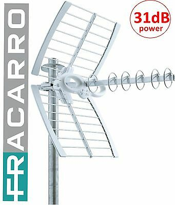 ANTENNA DIGITALE FRACARRO POWER SIGMA 6 ELEMENTI AMPLIFICATA 31dB 6PWR HD TOP