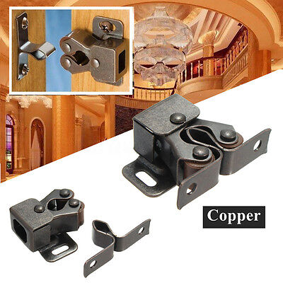10PCS Metal Double Roller Catch For Home Kitchen Furniture Cabinet Closet Lot