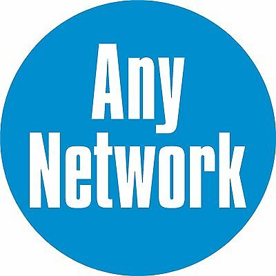 ANY NETWORK TEXT Mobile Phone Network Stickers, 12mm Vinyl Label x98