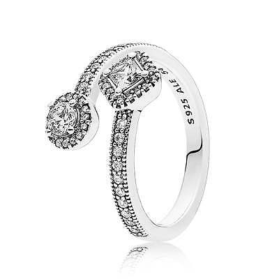 New Pandora S925 ALE Abstract Elegance Ring Size: 50, 52, 54, 56, 58