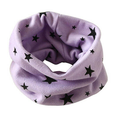Boys Girls Collar Scarf Cotton O-Ring Neck Scarves (purple) Y5N7