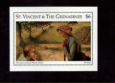 St. Vincent & The Grenadines 1996 #2267 S/s Vf Nh Metropolitan Museum !!