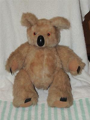 """Vintage Large Fully Jointed Koala Bear 16"""" Suede Paws"""