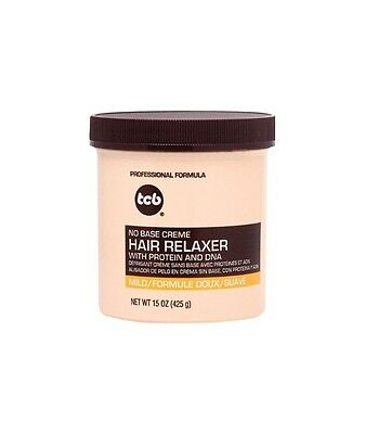 TCB No Base Creme Hair Relaxer Mild Formula with Protein & Dna 15oz