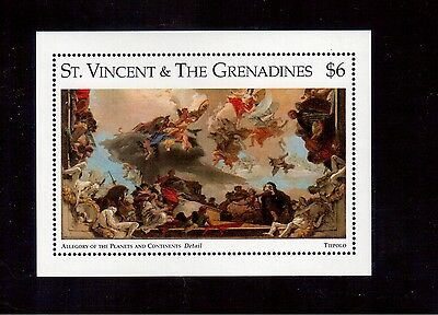 St. Vincent & The Grenadines 1996 #2268 S/s Vf Nh Metropolitan Museum !!