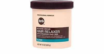 TCB No Base Creme Hair Relaxer Super Formula with Protein and Dna 15oz