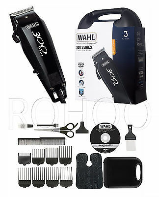 Wahl 300 Series Mains Hair Clipper Trimmer Cutter Grooming Kit DVD ** UK PLUG **