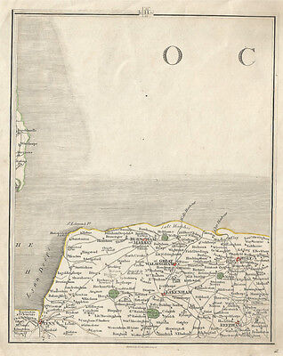Original antique map of North Norfolk, Cary 1794