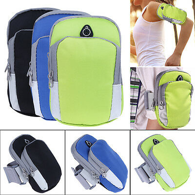 Sports Running Jogging Cycling Arm Band Holder Keys Pouch Smart Phone Case Cover