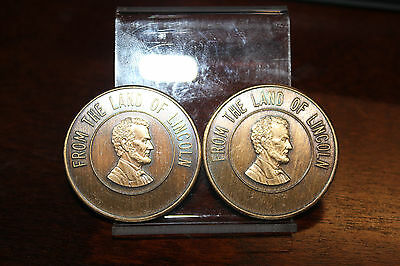 20 ct Roll Land of Lincoln Imperial Potentate Bronze Masonic Medals Thomas Seay