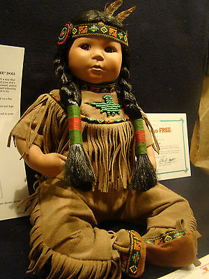 American Indian Girl Doll Brave and Free Danbury Mint Classic by Perillo @26