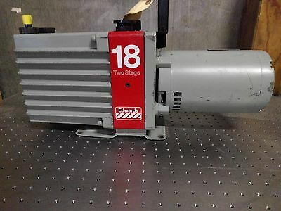 Edwards Model: E2M-18 Vacuum Pump W/ 3/4 Hp 3-Phase Motor