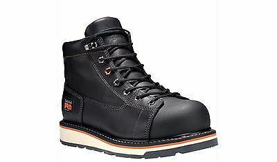 """Timberland PRO Boots Mens Gridworks 6"""" Alloy Toe Black Work Boots"""