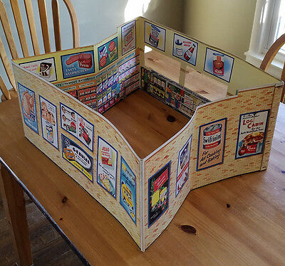VINTAGE 1950's A&P GROCERY STORE CARDBOARD PLAYSET PROMO NICE VERY RARE