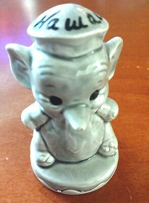 "Cute 2.5"" Ceramic Gray Elephant ""Hawaii"""