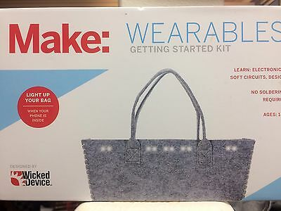 """Make: Wearables Getting Started Kit """"Light Up Your Bag"""" NEW Wicked Device NIB"""