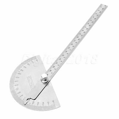 Stainless Steel Rotary Protractor Angle Finder Ruler Gauging Measuring Tool 1x