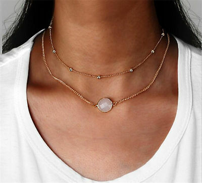 Fashion Women Choker Chunky Statement Bib Pendant Chain Charm Necklace Jewelry