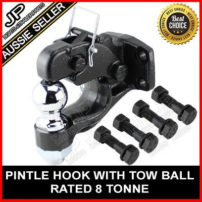 8000kg Pintle hook with combination 50mm tow ball rated 3500kg HITCH TRAILER 4WD