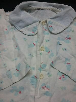 Vintage 1950s pajamas boy girl robe sleeper 3 4 5 romper button down flannel