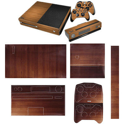 Wooden Skin Sticker For Xbox ONE Console+Free Controller Vinyl Decal Matt Colour