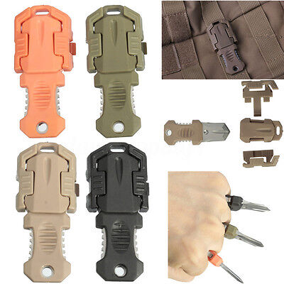 Military EDC Pocket Shiv Molle Webbing Buckle Survival Tool Camping & Hiking HOT