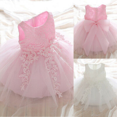 Girls Kids Flower Lace Embroidery Party Prom Princess Bridesmaid Wedding Dress