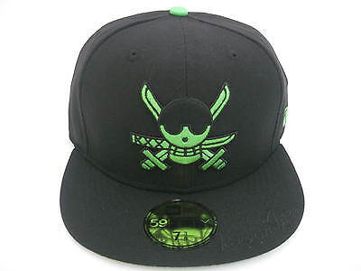 NEW ERA 59FIFTY ONE PIECE ZORO 59FIFTY FITTED CAP black green ... 7a1dee1808c0