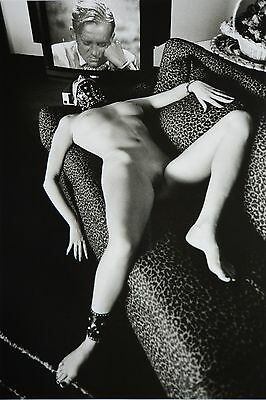 Helmut Newton Sumo Photo 50x70 Eva Monte Carlo 1994 Domestic Nude IV Living Room