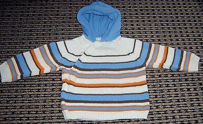 Purebaby Boys Hooded Jumper  Sz 000