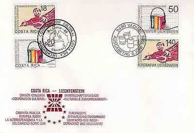 80.019/ FDC Joint Issue Liechtenstein Costa Rica