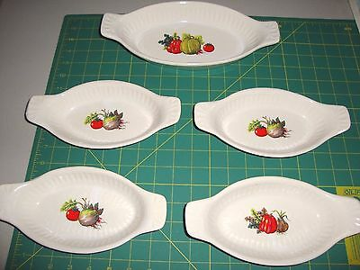 5 Mccoy Quiche/Au Gratin Dishes #7033 And 7031 Dinnerware