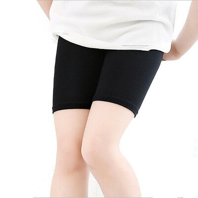 2 Pairs Girls White Black short leggings shorts for School PE or Sports Age 3-8