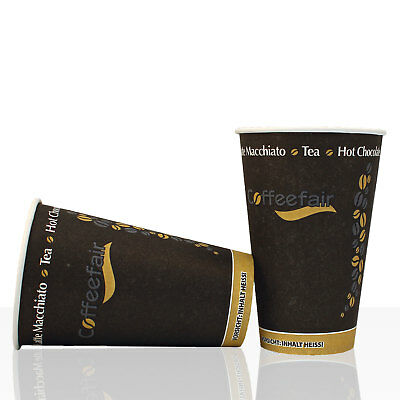 Coffee to go - Hartpapier - Becher Coffeefair 0,3l, 50Stk, 300ml