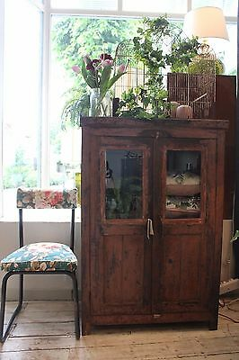 Antique distressed indian wooden drinks cabinet / bathroom / bookcase