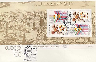 86.448/ Portugal Block FDC  1986 Europa