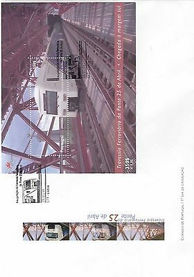 86.452/ Portugal Block FDC  1999 Zug Train