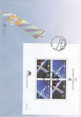 86.473/ Portugal Block FDC  1991 Europa Cept Space