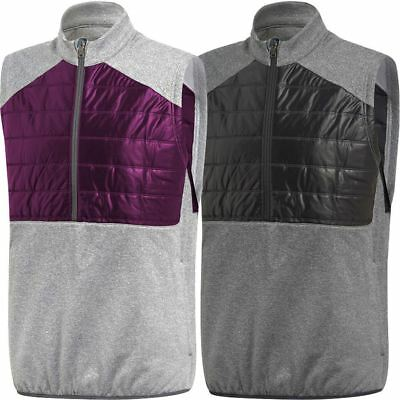 Adidas 3-Stripe Climaheat® Mens 1/4 Zip Thermal Quilted Golf Gilet @ 60% Off !!!