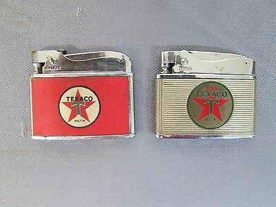 Lot Of 2 Vintage Original Texaco Advertising Lighters In Good Condition