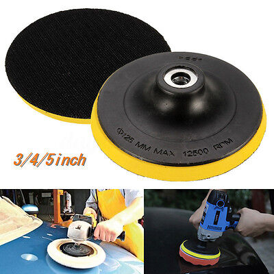 3/4/5inch Sticky Backing Pad Car Polishing Burnishing Grinders For M10 Thread HK