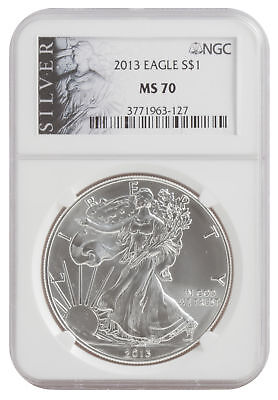 2013 1oz American Silver Eagle MS70 ALS NGC
