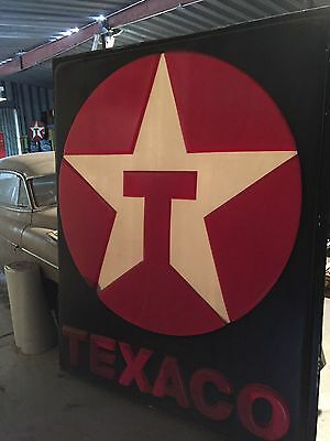 "Large Texaco Gas Station Sign - Aprox 83"" x 70"" - Made to be illuminated"