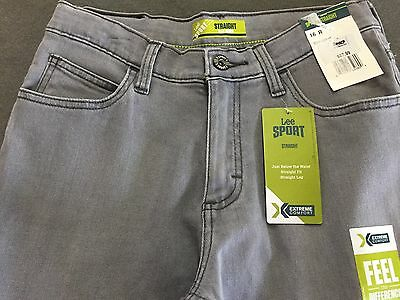 Lee Big Boys' Sport Straight Fit Jeans 16S Mongo and 16R Alloy NWT